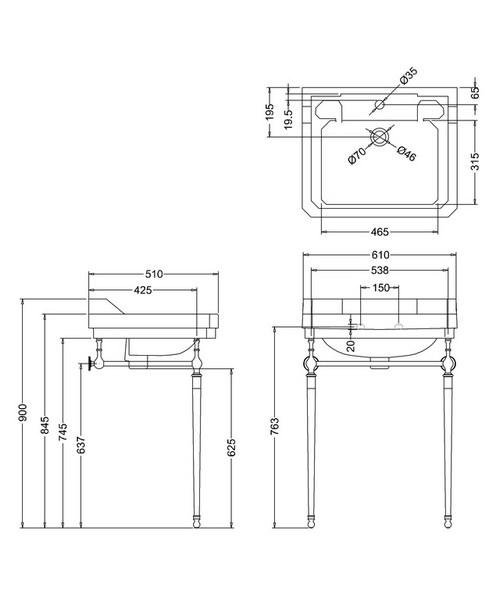 Technical drawing 9634 / B51TH
