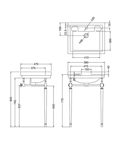 Technical drawing 9641 / B11TH