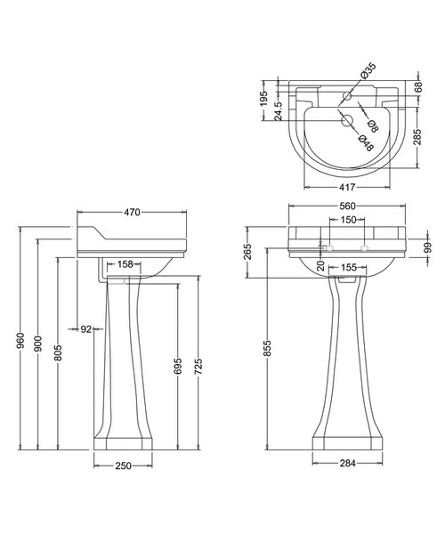 Technical drawing 9643 / B61TH