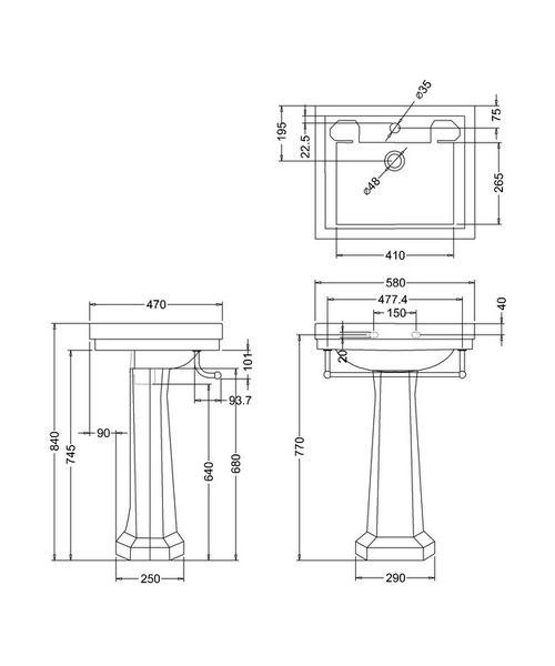 Technical drawing 9644 / B11TH