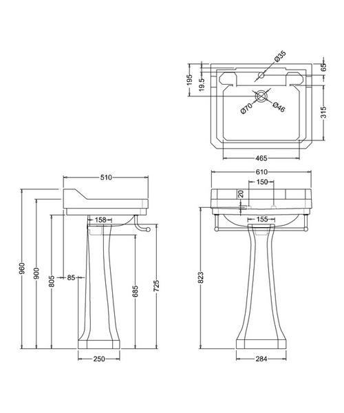 Technical drawing 9648 / B5 1TH