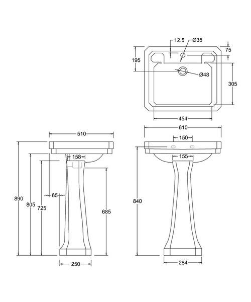 Technical drawing 9654 / B31TH