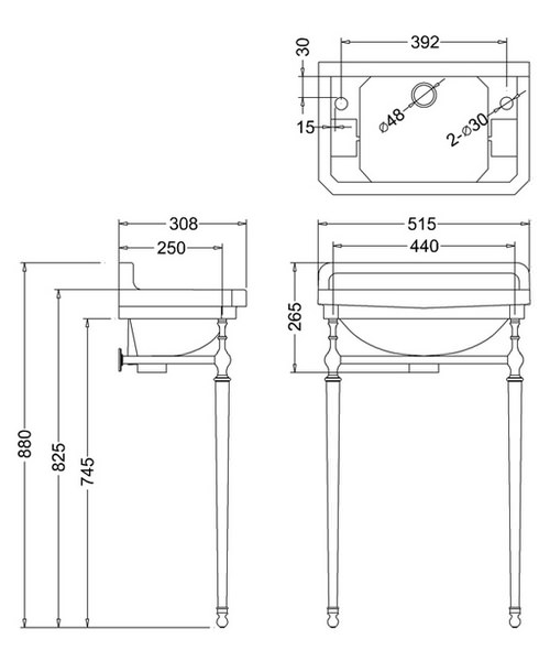 Technical drawing 9663 / B9