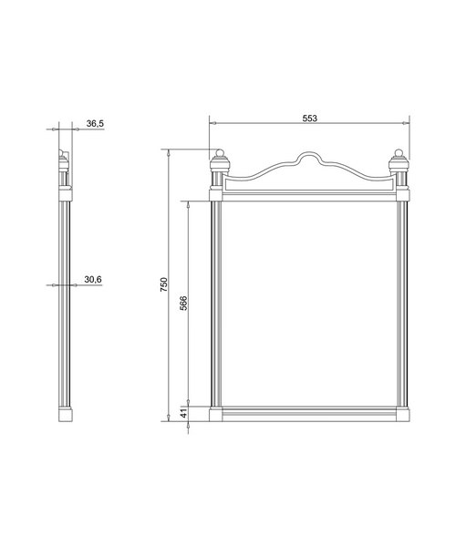 Technical drawing 9717 / T42WHI