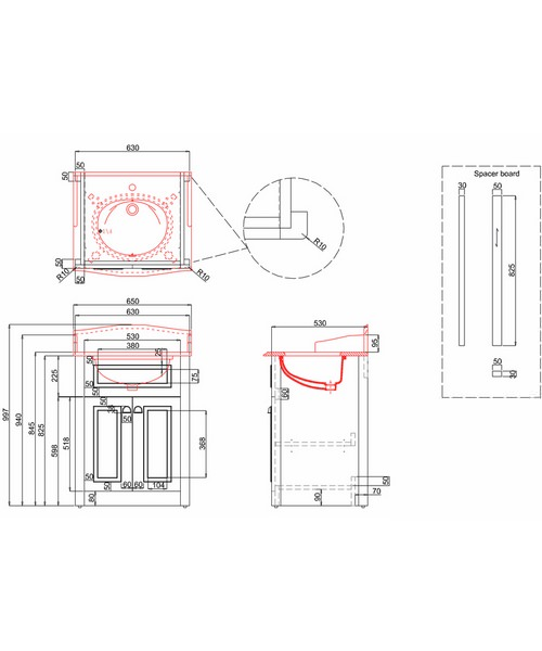 Technical drawing 9730 / F1O