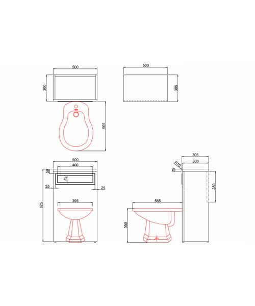 Technical drawing 9739 / F4M