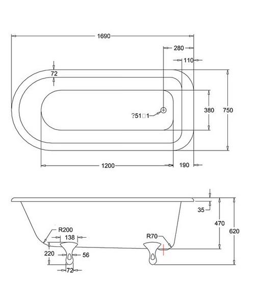 Technical drawing 9761 / E2, E10CHR