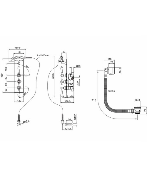 Technical drawing 9799 / H81-CL