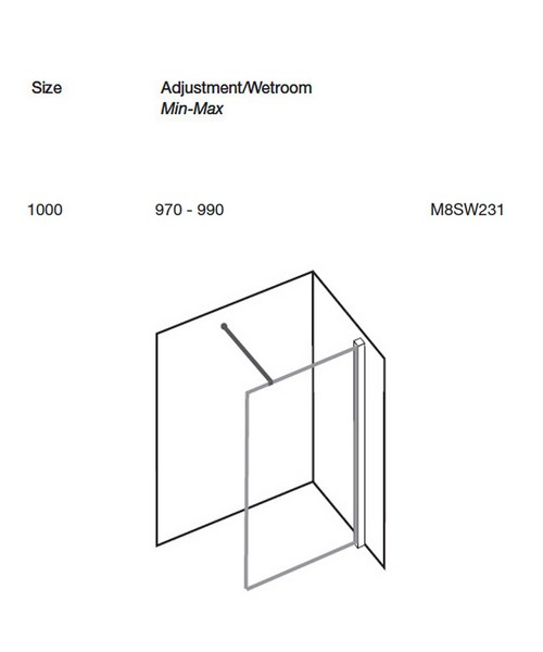 Technical drawing 9922 / M8SW231